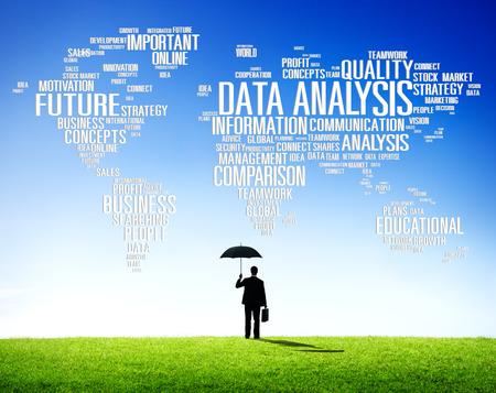 data: Data Analysis Analytics Comparison Information Networking Concept Stock Photo