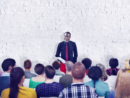 buisness: Buisness People Meeting Seminar Audience Team Concept Stock Photo