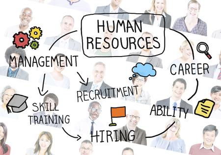 recruitment: Human Resource Hiring Recruiter Select Career Concept