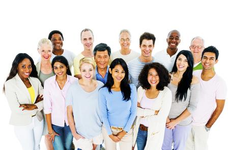 Groep toevallige mensen Sociale bijeenkomst Concept