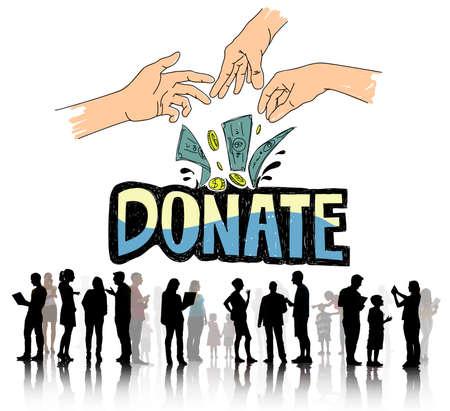 generoso: Donate Money Charity Generous Hands Concept