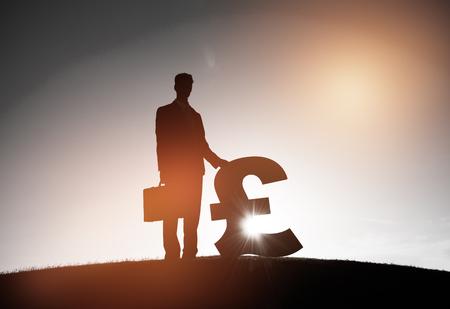 great britain: Businessman Business Finance Pound Money Concept Stock Photo