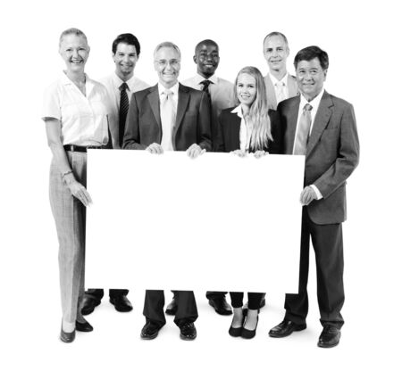 organised group: Business People Happiness Banner Coopy Space Concept Stock Photo