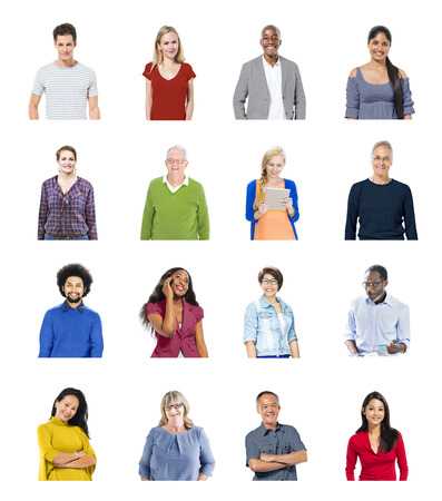 family isolated: Diverse People Global Communications Technology Concept Stock Photo