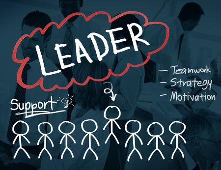 liderazgo empresarial: Concepto Responsabilidad de la dirección leader Foto de archivo
