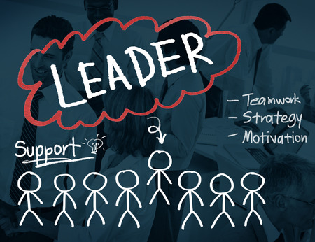 business leadership: Leader Leadership Management Responsibility Concept