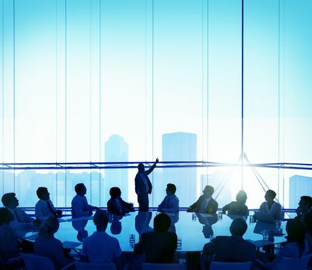Business People Meeting Corporate Planning Concept Banco de Imagens