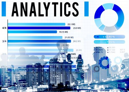business sign: Analytics Information Statistics Strategy Data Concept Stock Photo