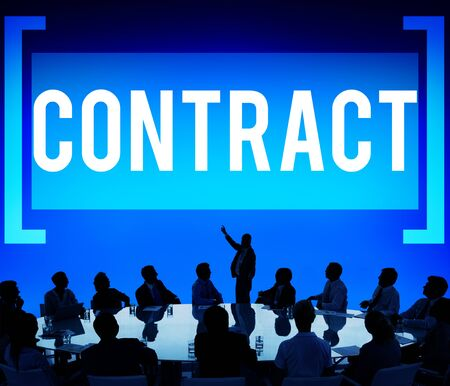 commitment: Contract Deal Agreement Negotiation Commitment Concept