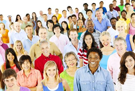Ethnicity Diversity Ethnic Diverse Community Crowd Concept Фото со стока