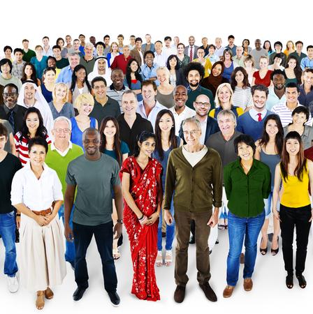la société: Personnes diversité ethnique Foule Groupe Société