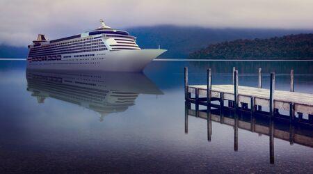 yacht: Yacht Cruise Ship Sea Ocean Tropical Scenic Concept Stock Photo