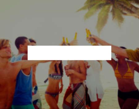 borracho: Summer Holidays Vacation Unión Vinculación Concepto Foto de archivo