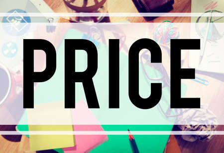 commerce: Price Cost Expense Money Rate Value Commerce Concept