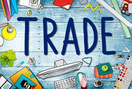 dealing: Trade Commerce Exchange Negotiation Economic Concept Stock Photo