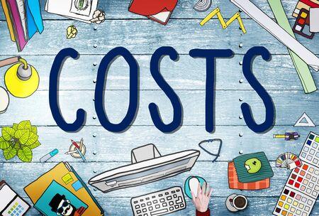 contabilidad: Costes Contabilidad Financiera Concepto de dinero en efectivo Foto de archivo