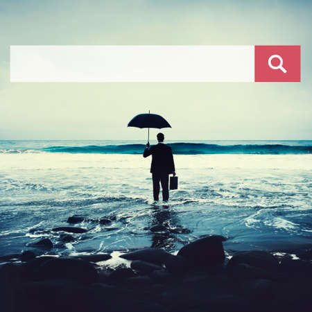 solitude: Search box Web Online Browsing Searching Concept Stock Photo