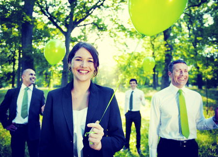 business confidence: Business People Green Business Environmental Conservation Concept Stock Photo