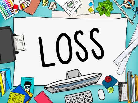 deficiency: Loss Risk Debt Economy Finance Concept