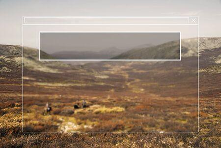 mongolia horse: Copy Space Blank Idea Creativity Frame Free Gap Concept Stock Photo