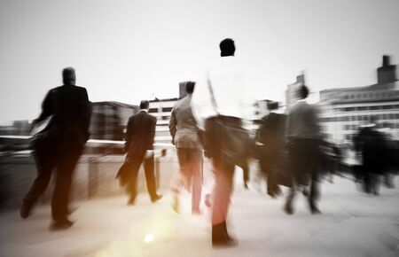 commuter: Business People Commuter Walking Travel Crowd Concept