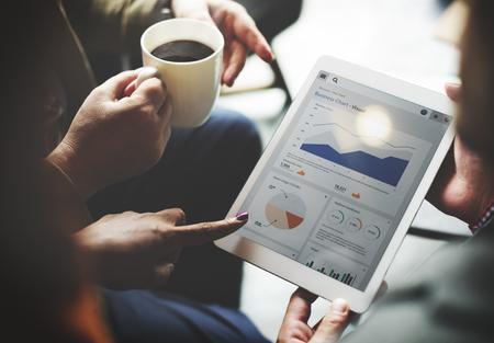 Business Team Brainstorming Data Target Financial Cocnept Banque d'images