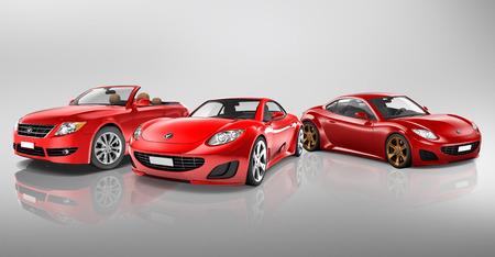 silhouette voiture: Concept Illustration véhicules de transport en 3D Banque d'images