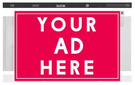 advertise: Your Ad Here Marketing Advetising Commercial Concept