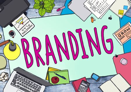 printer drawing: Branding Brand Marketing Business Strategy Identity Concept
