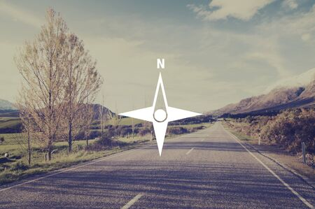 exploration: Compass Icon Navigator Exploration Navigation Concept