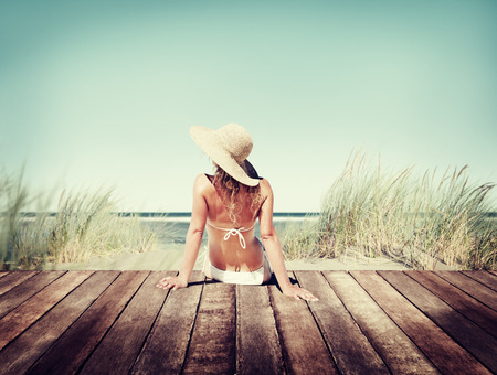 Woman Wearing Bikini in a Summer Vacation Concept