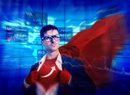 empowerment: Arrow Strong Superhero Success Professional Empowerment Stock Concept