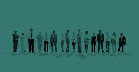 business crowd: Group of Business people Team Aspiration Concept Stock Photo