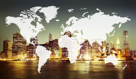 Wereld Global Cartografie Globalisering Earth International Concept Stockfoto