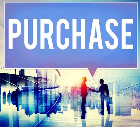 purchase: Purchase Retail Commerce Marketing Concept Stock Photo