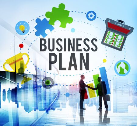 guidelines: Business Plan Planning Mission Guidelines Concept Stock Photo