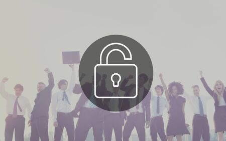 protect: Unlock Protect Padlock Protection Concept