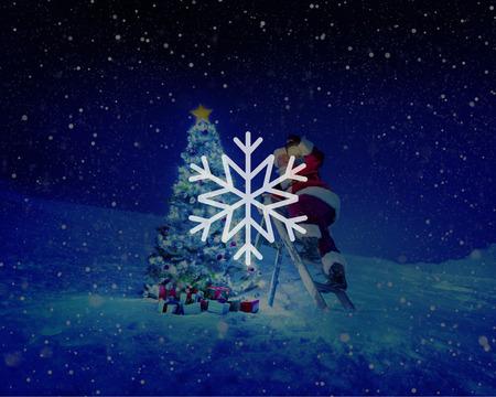 a blizzard: Snow Winter Snowflake Blizzard Christmas Concept