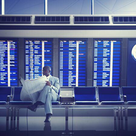 flight mode: Businessman Airport Business Travel Flight Waiting Concept