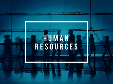 human back: Human Resources Hiring Corporate Employment Concept Stock Photo