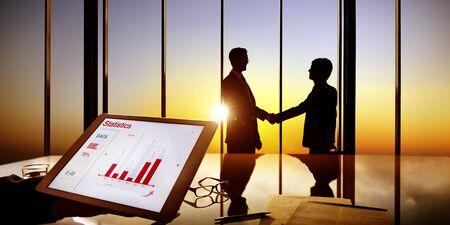 businessmen shaking hands: Businessmen Shaking Hands Information Data Shake Concept