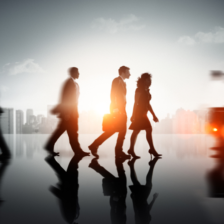 rushing hour: Business People Commuter Corporate Cityscape Pedestrian Concept