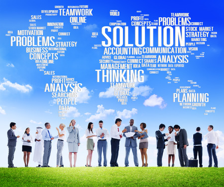 breaking new ground: Solution Solve Problem Strategy Vision Decision Concept