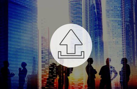 uploading: Uploading Upload Interface Technology Storage Concept
