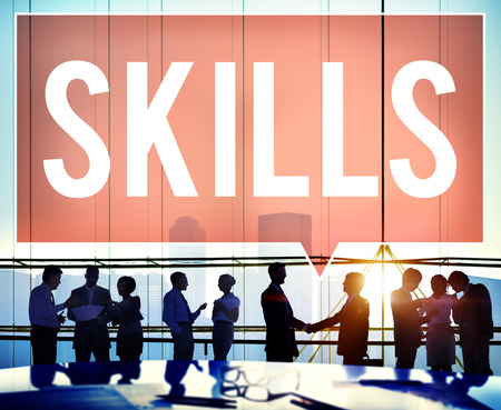 communication capability: Skill Ability Qualification Performance Talent Concept Stock Photo