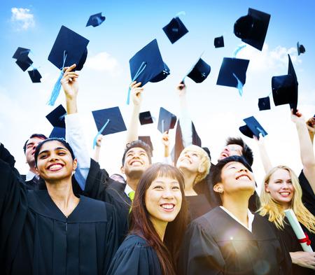 estudiantes de secundaria: Graduación Estudiantes de Educación Éxito Felicidad