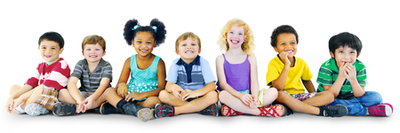 Children Kids Happines Multiethnic Group Cheerful Concept Stockfoto