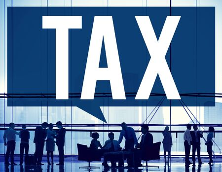 taxation: Tax Taxing Taxation Taxable Taxpayer Finance Concept Stock Photo