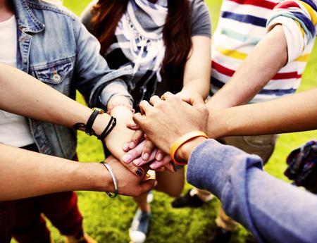 チーム チームワーク関係一緒に団結友情概念