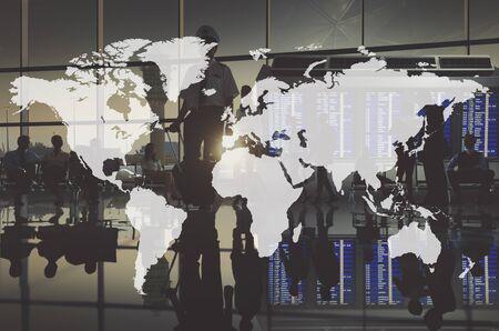 business globe: World Global Cartography Globalization Earth International Concept